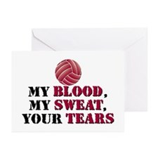 Blood Sweat Tears Greeting Cards (Pk of 20)