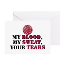 Blood Sweat Tears Greeting Cards (Pk of 10)