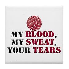 Blood Sweat Tears Tile Coaster