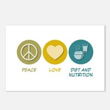Peace Love Diet and Nutrition Postcards (Package o