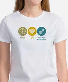 Peace Love Diet and Nutrition Women's T-Shirt