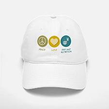 Peace Love Diet and Nutrition Baseball Baseball Cap