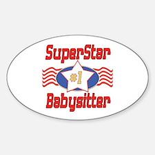 Superstar Babysitter Oval Decal