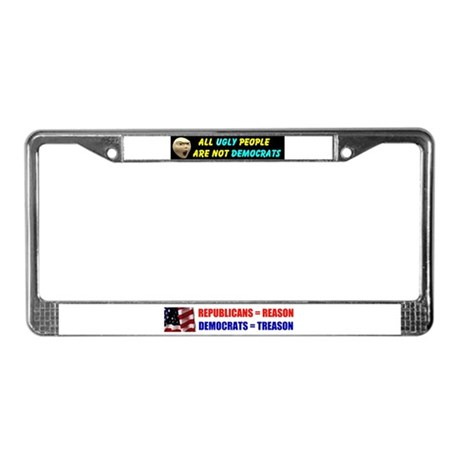 UGLY DEMOCRATS License Plate Frame