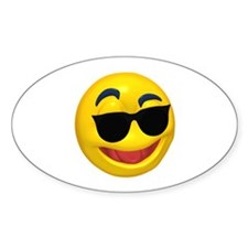 Cool Shades Face Oval Decal
