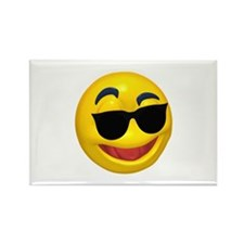 Cool Shades Face Rectangle Magnet (10 pack)