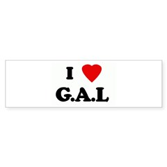 I Love G.A.L Bumper Sticker (10 pk)