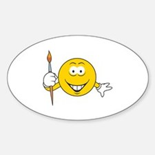 Artist/Painter Smiley Face Oval Decal