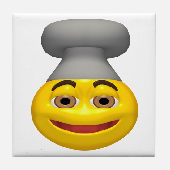 Chef Hat Face Tile Coaster
