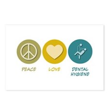 Peace Love Dental Hygiene Postcards (Package of 8)
