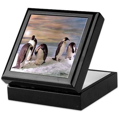 Penguins from Antarctica Keepsake Box