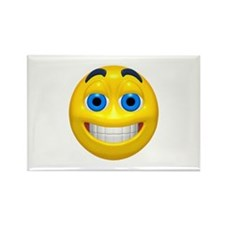 Happy Cheesy Face Rectangle Magnet