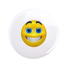 "Happy Cheesy Face 3.5"" Button"