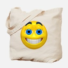 Happy Cheesy Face Tote Bag