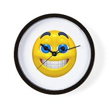 Happy Cheesy Face Wall Clock
