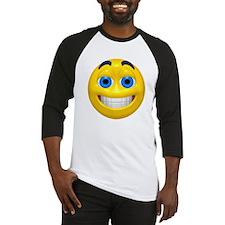 Happy Cheesy Face Baseball Jersey