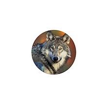 Wolf Photograph Mini Button