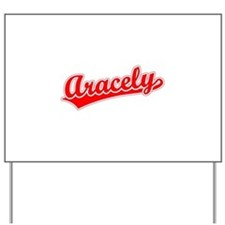 Retro Aracely (Red) Yard Sign