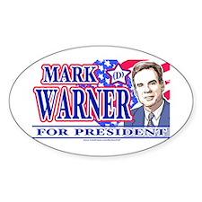 Mark Warner 2008 Oval Decal