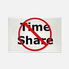 No Time Share Rectangle Magnet