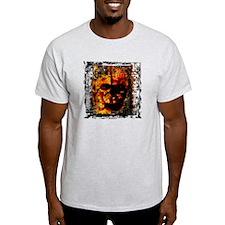 Dark Burning Skull - T-Shirt