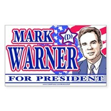 Mark Warner 2008 Rectangle Decal