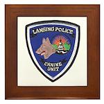 Lansing PD Canine Framed Tile