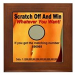 Scratch Off And Win Whatever Framed Tile