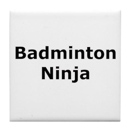 Badminton Ninja Tile Coaster