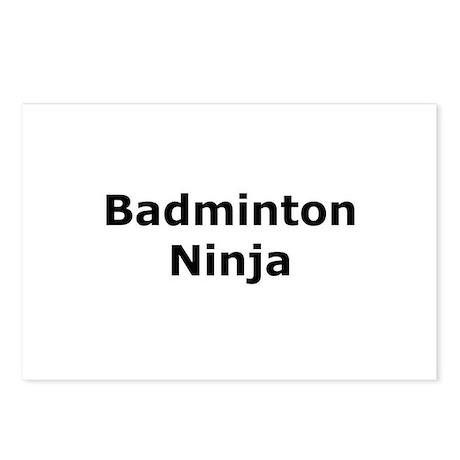 Badminton Ninja Postcards (Package of 8)