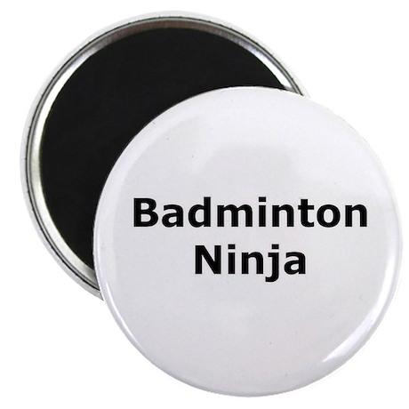 "Badminton Ninja 2.25"" Magnet (10 pack)"