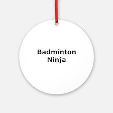 Badminton Ninja Ornament (Round)