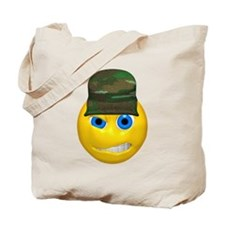 Mean Armed Forces Face Tote Bag
