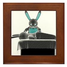 Bunny Massage Framed Tile