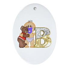 Baby Initials - B Keepsake (Oval)