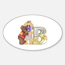 Baby Initials - B Oval Decal