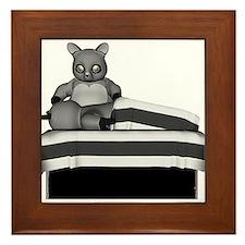 Raccoon Massage Framed Tile