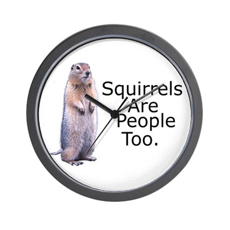 Squirrels Are People Too Wall Clock