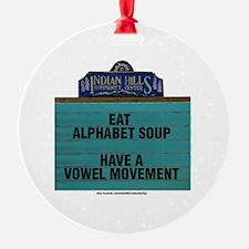 Cute Alphabet soup Ornament