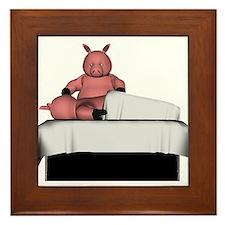 Pig Massage Framed Tile