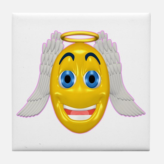 Cute Angel with Wings Tile Coaster