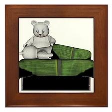 Polar Bear Massage Framed Tile