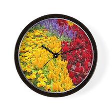 Colourful Flowerbed, Sydney Wall Clock