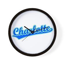 Retro Charlotte (Blue) Wall Clock