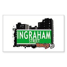 INGRAHAM STREET, BROOKLYN, NYC Rectangle Decal