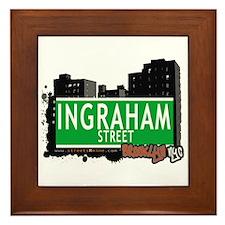 INGRAHAM STREET, BROOKLYN, NYC Framed Tile