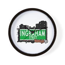 INGRAHAM STREET, BROOKLYN, NYC Wall Clock