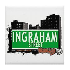 INGRAHAM STREET, BROOKLYN, NYC Tile Coaster
