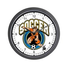 Women's Soccer Logo Wall Clock