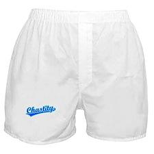 Retro Chastity (Blue) Boxer Shorts